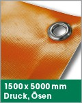 1500 x 5000 mm | Druck, Ösen