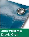 800 x 2000 mm | Druck, Ösen