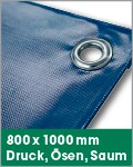 800 x 1000 mm | Druck, Ösen, Saum
