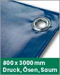 800 x 3000 mm | Druck, Ösen, Saum