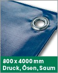 800 x 4000 mm | Druck, Ösen, Saum