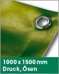 1000 x 1500 mm   Druck, Ösen