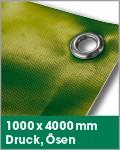 1000 x 4000 mm   Druck, Ösen