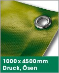 1000 x 4500 mm   Druck, Ösen