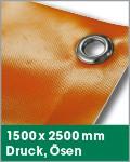 1500 x 2500 mm   Druck, Ösen