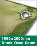 1000 x 2000 mm   Druck, Ösen, Saum