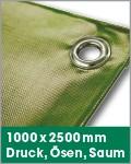 1000 x 2500 mm   Druck, Ösen, Saum