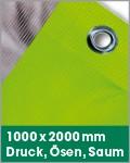 1000 x 2000 mm | Druck, Ösen, Saum