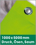 1000 x 5000 mm | Druck, Ösen, Saum