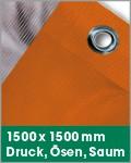 1500 x 1500 mm | Druck, Ösen, Saum